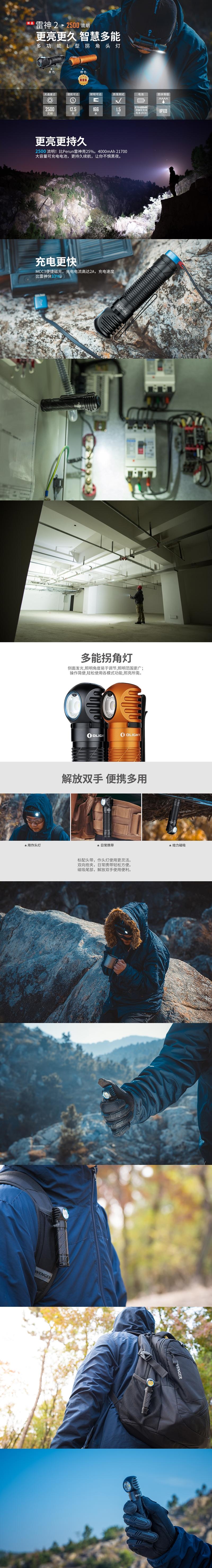 【錸特光電】OLIGHT PERUN 2 雷神2 2500流明 多功能感應L型轉角燈 (1)