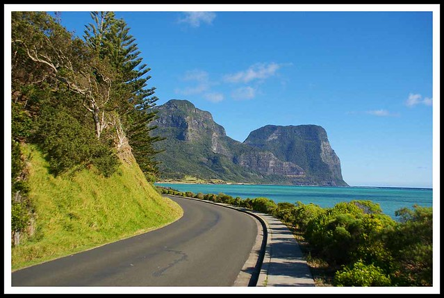 On the road, Lord Howe Island