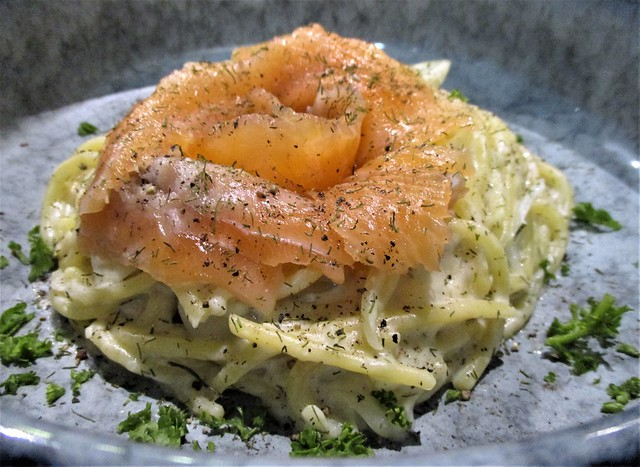 Hideout cured salmon pasta