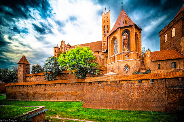 Malbork Castle: St. Ann's Chapel from the East Moat of Upper, Malbork, Poland. 336-Edit