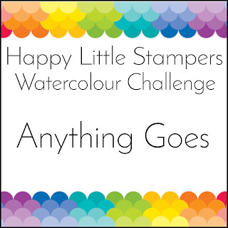 Happy Little Stampers - Watercolor Challenge - Anything Goes