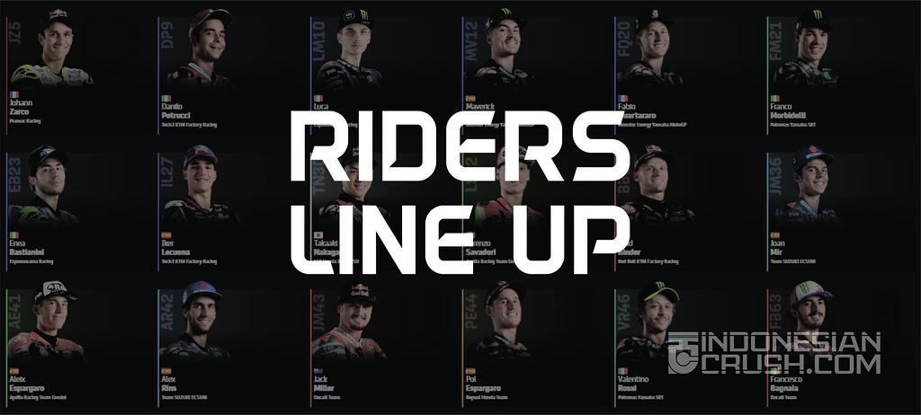 MotoGP Riders Line Up 2021