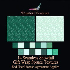 2020 Advent Dec 3rd - 14 Seamless Snowfall Gift Wrap Spruce Timeless Textures