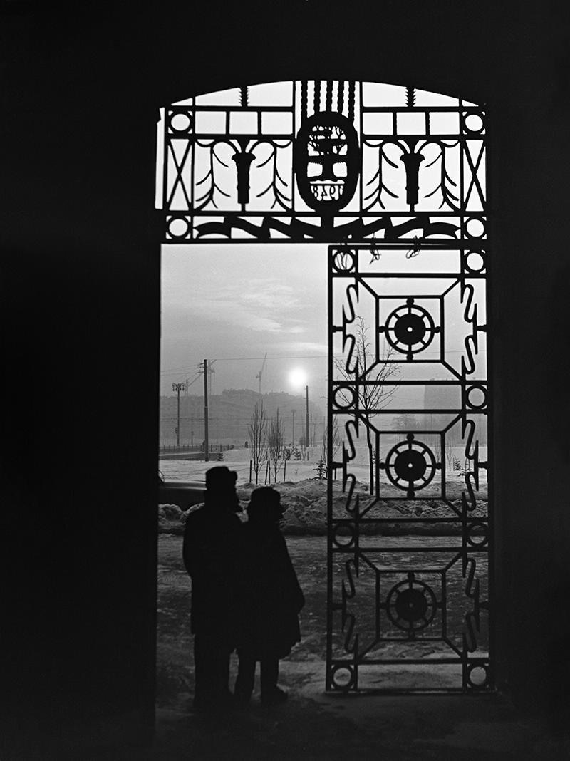 1960-е. Морозный вечер. Ленинский проспект, дом 30