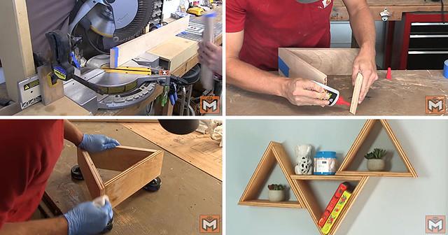 Internet Diese billigen, aber dennoch aktuellen DIY Holz Dreieck Wandregale