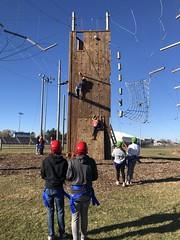 PHS physical education students enjoyed a ropes course climb Nov. 6. Photo by Principal Brandl