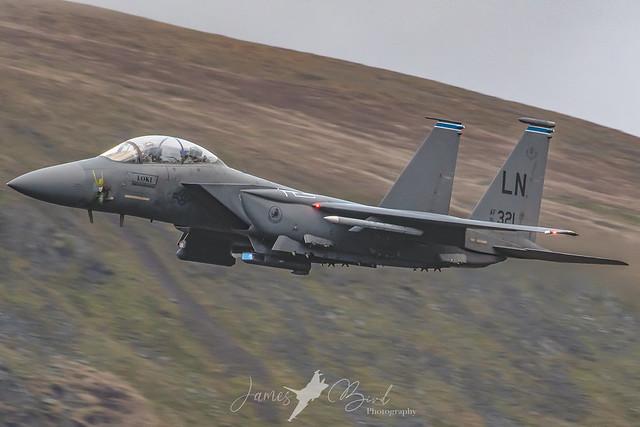 F-15E Strike Eagle 91-321 'Loki' low level in the English Lake District