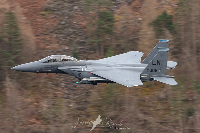 F-15E Strike Eagle 91-308 low level in the English Lake District