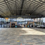 Under the market canopy at Preston