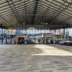 Under the market canopy at Preston