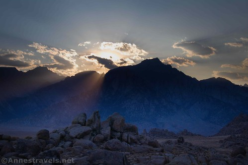 Sunset from the Alabama Hills National Recreation Area, California
