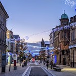 Festive looking Fishergate in Preston