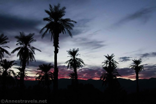 Sunset at the Death Valley Ranch, California