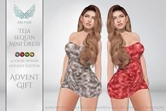 [Ari-Pari] Teja Sequin Mini Dress - Holiday Edition
