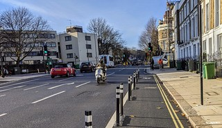 View back to Malden Road junction