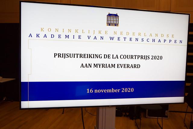 Uitreiking De la Courtprijs 2020