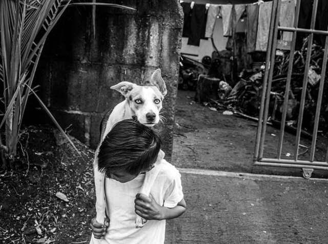 The dog and the boy. Managua, Nov. 2020.