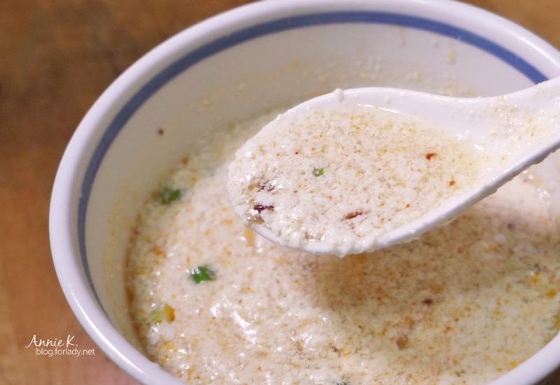 鹹豆漿完成品