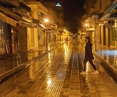 Quarantine nights in Heraklion, Greece.