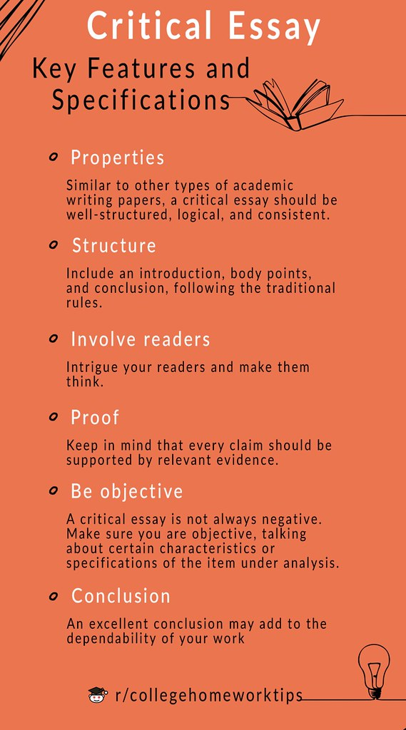 text with facts about critical essay