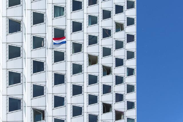 Facade with flag