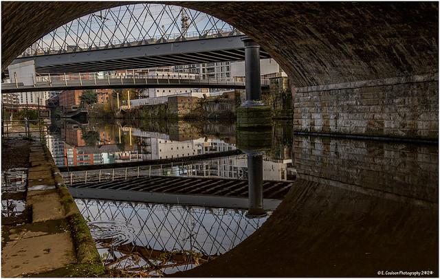 Three Bridges Over The River Irwell