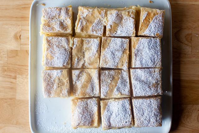 vanilla custard slices