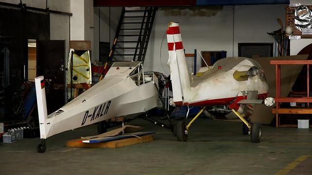 D-KALR Ruppert Rhonlerche II and Unidentified T-tailed twin - Luftfahrt und Technik Museumspark - Merseburg May 2008