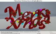 ".:Tm:.Creation  ""Merry Xmas"" Christmas Decors C17"