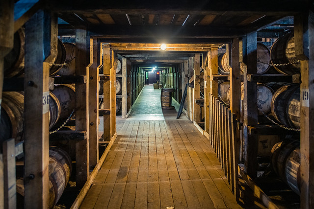 Time in a bourbon rackhouse