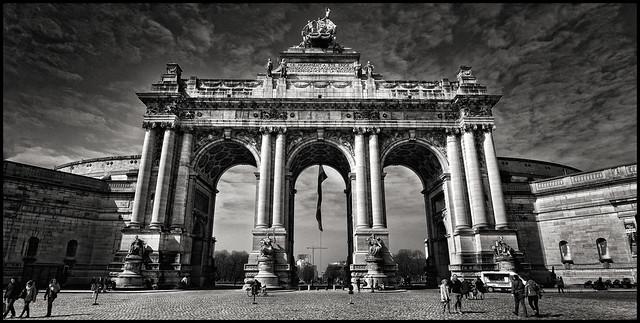 Belgium - Brussels - Arcades du cinquantenaire 01_mono panorama v2_DSC0873