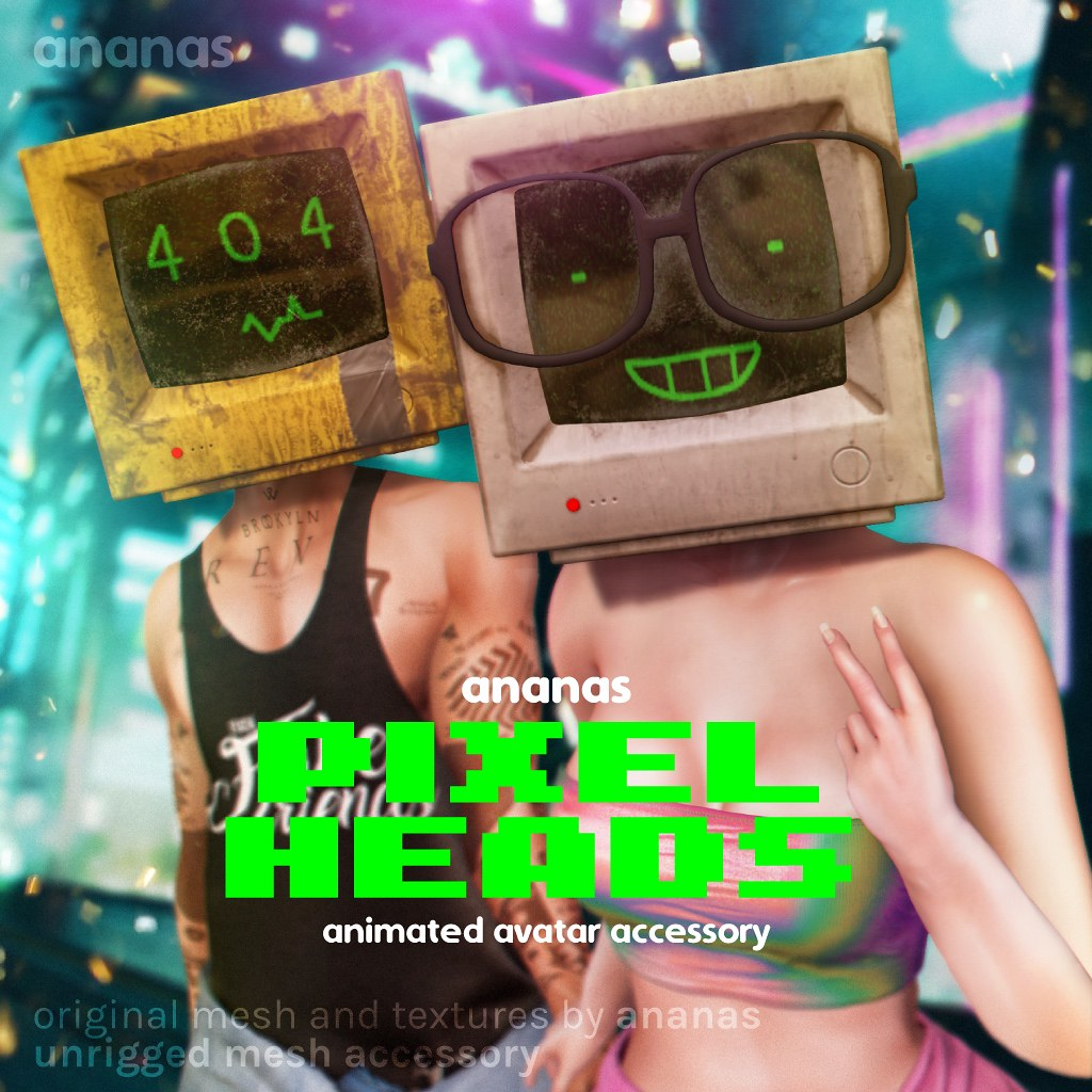 Journey Back in time with Ananas// Pixel Heads!