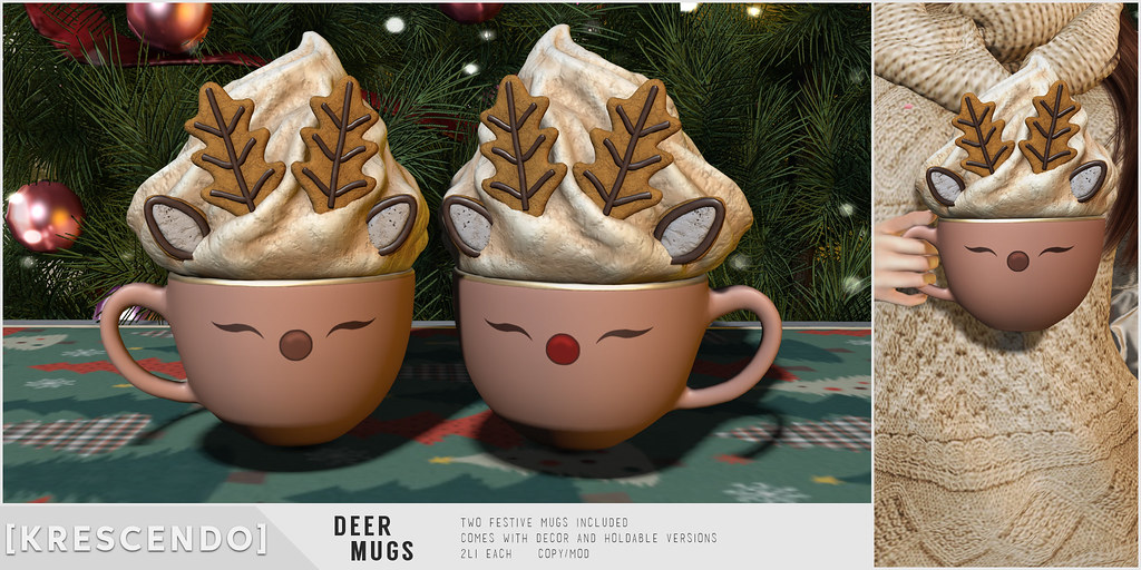 [Kres] Deer Mugs