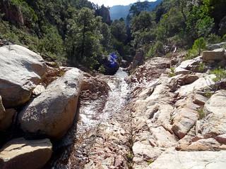 Canyon de Lora : aux vasques supérieures