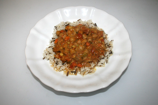 Chickpea Curry - Leftovers V / Kichererbsen-Curry - Resteverbrauch V
