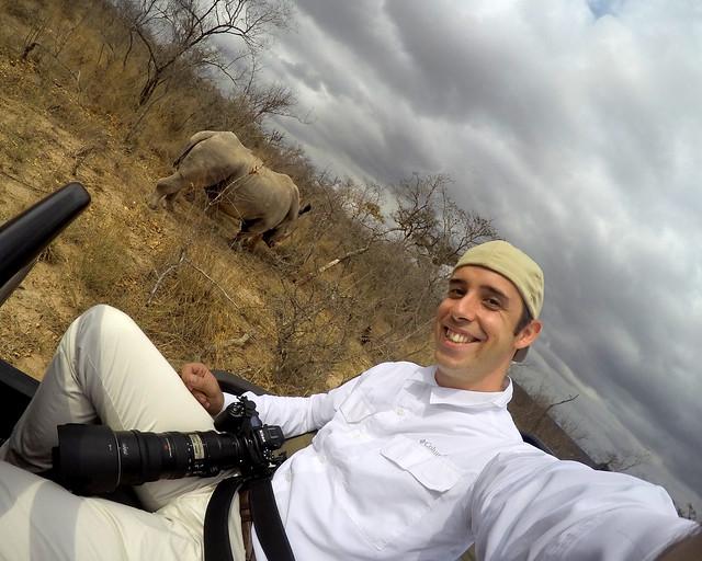 Rinoceronte en la reserva de Sabi Sand durante nuestro safari