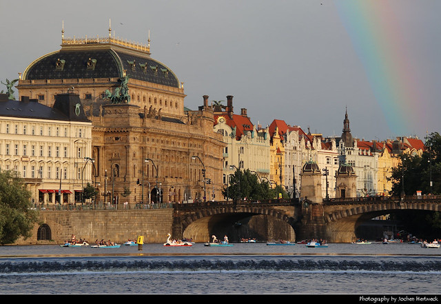 View across the Vltava, Prague, Czech Republic