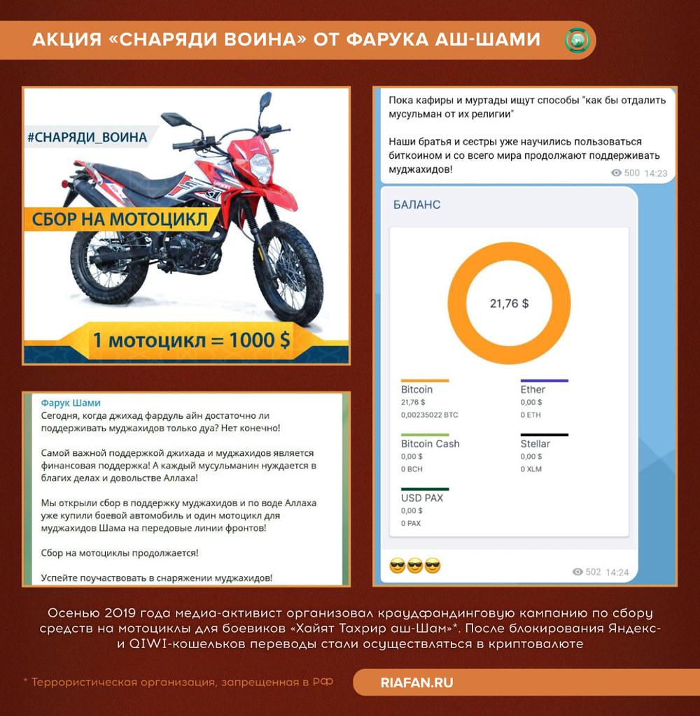 Achat de motos pour les terroristes en Syrie