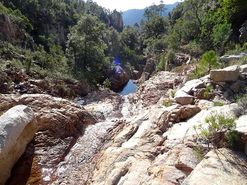 Canyon de Lora : les vasques supérieures