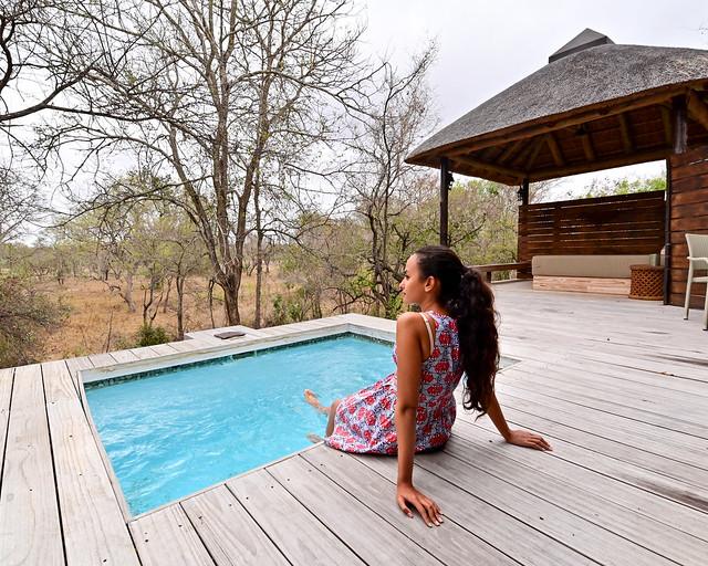Piscina de nuestro safari en Sabi Sand en Sudáfrica
