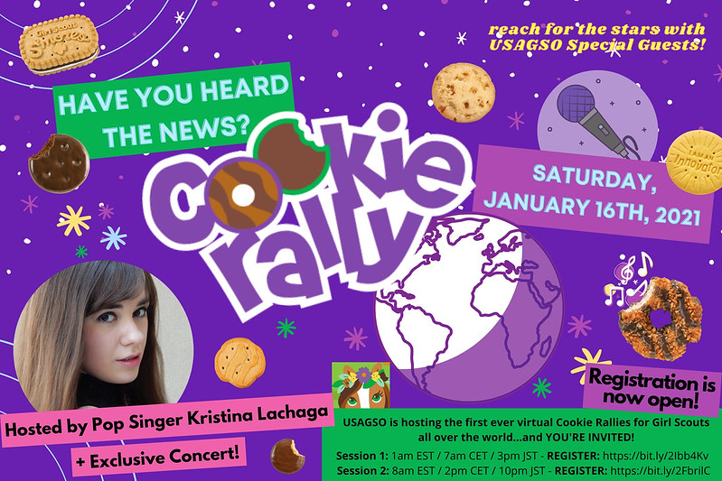 Join Kristina Lachaga for USA Girl Scouts Overseas' 2021 Cookie Rallies!
