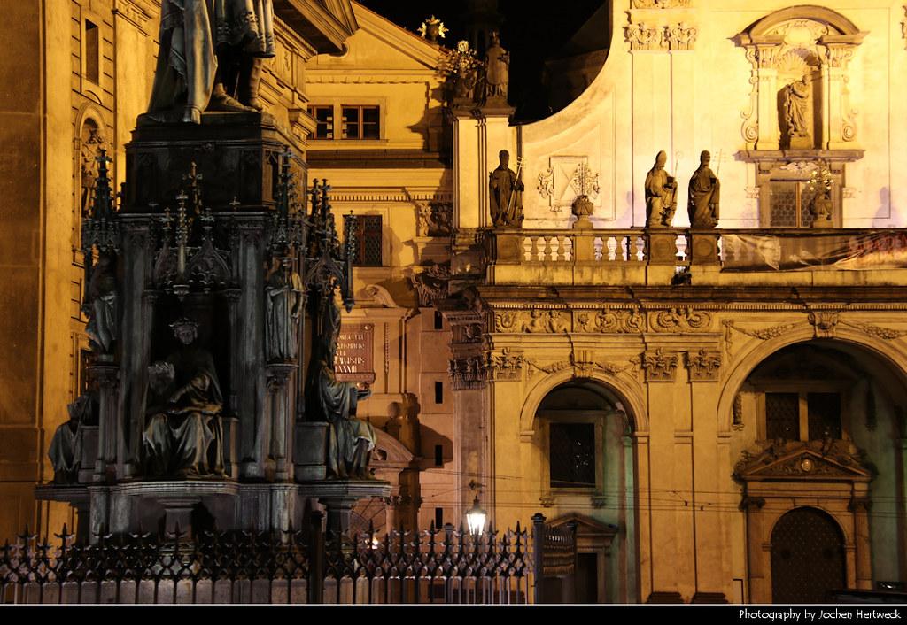 Křižovnické Square @ Night, Prague, Czech Republic