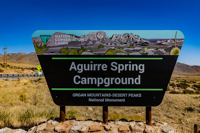 Campground Sign in the Organ Mountains