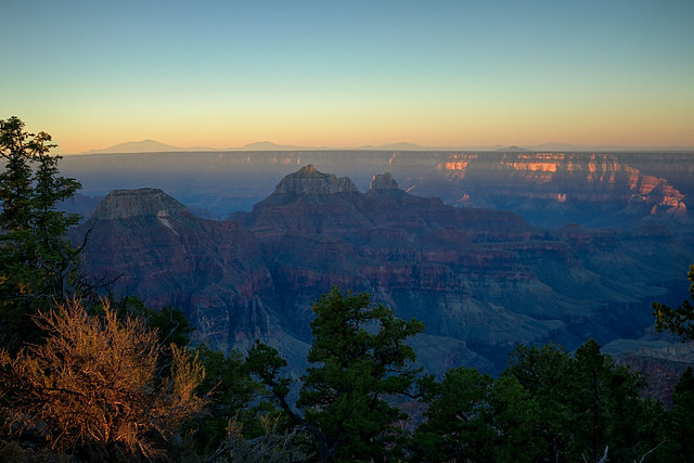 Grand Canyon at sun rise, from the north Rim