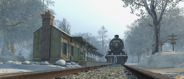 Winter Trainstation