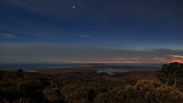 Drakes Estero and Point Reyes - Astronomical Twilight