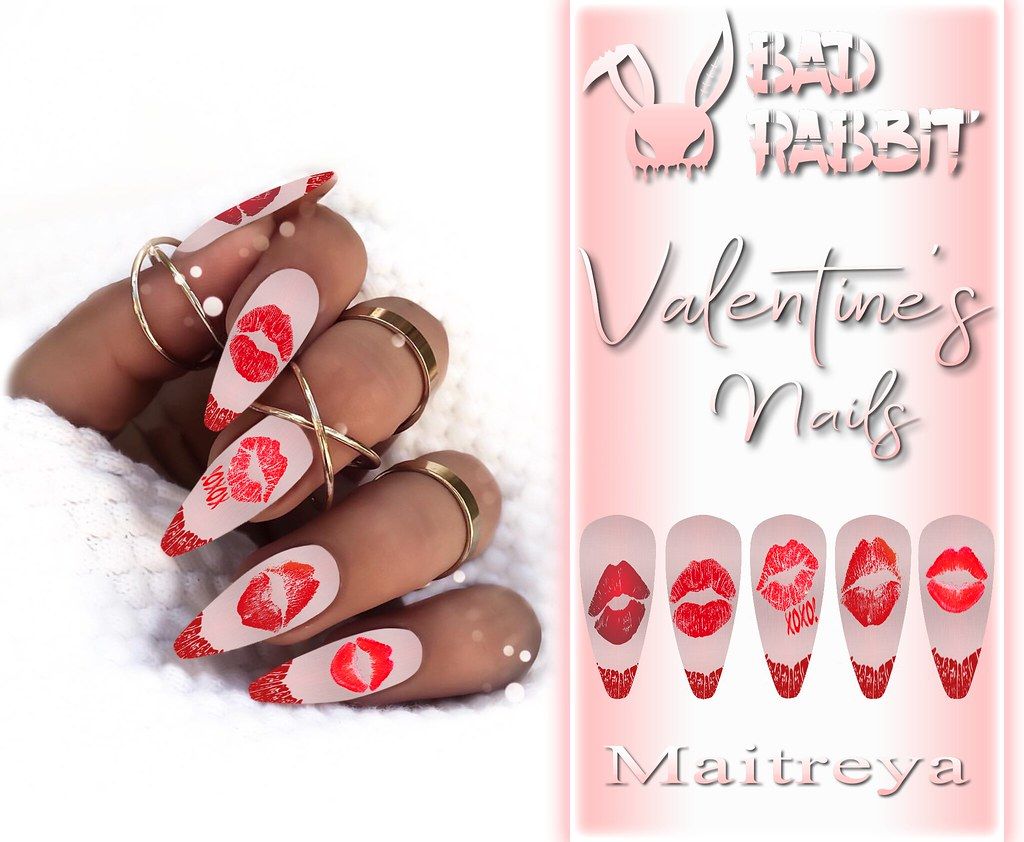 .:Bad Rabbit:. Valentine's Nails GIFT