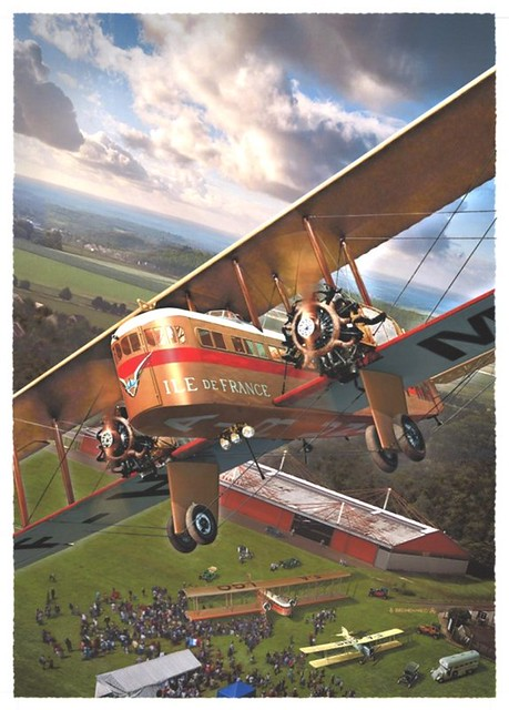 Biplan Farman F.60 transport aérien Air-Union avion Aériastory Centenaire aviation commerciale 2020 Daniel Bechennec