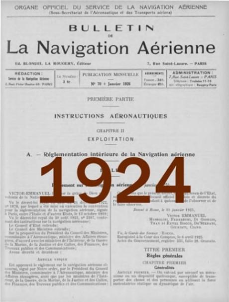Bulletin de la navigation aérienne 1924