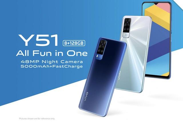Vivo Y51 Dilancar Dengan Snapdragon 665, 3 Kamera 48Mp, 5000Mah Berharga Rm1,037